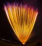 Fuegos artificiales en California Fotos de archivo libres de regalías