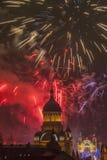 Fuegos artificiales en Cluj Napoca Fotos de archivo libres de regalías