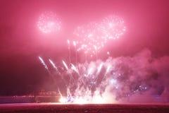 Fuegos artificiales en el Año Nuevo Fotografía de archivo