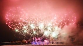 Fuegos artificiales en el Año Nuevo Imagenes de archivo