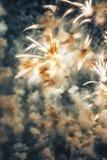 Fuegos artificiales en el Año Nuevo Foto de archivo