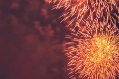 Fuegos artificiales en el Año Nuevo Fotos de archivo libres de regalías
