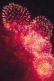 Fuegos artificiales en el Año Nuevo Imagen de archivo