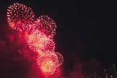 Fuegos artificiales en el Año Nuevo Imágenes de archivo libres de regalías