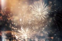 Fuegos artificiales en el Año Nuevo Imagen de archivo libre de regalías