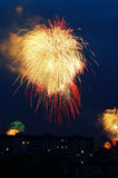 Fuegos artificiales en el cielo Imagen de archivo