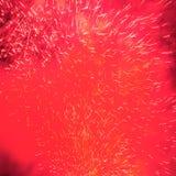 Fuegos artificiales en el cielo de la tarde Fotos de archivo