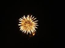 Fuegos artificiales en el cielo nocturno Foto de archivo