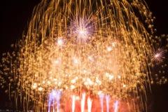 Fuegos artificiales en el espacio del Año Nuevo y de la copia Fotografía de archivo libre de regalías