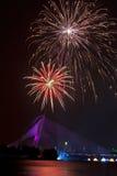 Fuegos artificiales en el festival 2011 de Putrajaya Floria Imagen de archivo libre de regalías