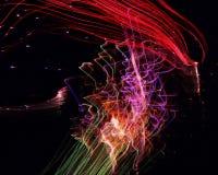 Fuegos artificiales en el movimiento Fotografía de archivo