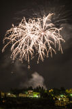 Fuegos artificiales en Fiesole Fotografía de archivo