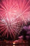 Fuegos artificiales en Heidelberg Imágenes de archivo libres de regalías