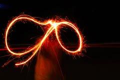 Fuegos artificiales en la noche en el festival Imagen de archivo