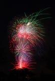 Fuegos artificiales en los 4tos Imagen de archivo libre de regalías