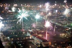 Fuegos artificiales en Noche Vieja Imagen de archivo libre de regalías