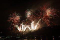 Fuegos artificiales en Praga Fotografía de archivo libre de regalías