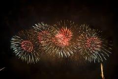 Fuegos artificiales espectaculares Foto de archivo