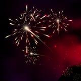 Fuegos artificiales Estrellas de la vía láctea Estrellas de un planeta y de una galaxia en un franco Imagen de archivo libre de regalías