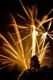 Fuegos artificiales explosivos Fotografía de archivo