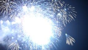 Fuegos artificiales festivos