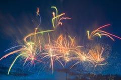 Fuegos artificiales festivos del Año Nuevo Fotografía de archivo libre de regalías