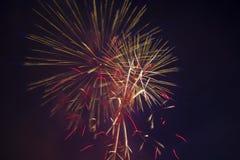 Fuegos artificiales festivos del Año Nuevo Imágenes de archivo libres de regalías