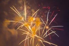 Fuegos artificiales festivos del Año Nuevo Foto de archivo