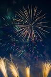 Fuegos artificiales festivos del ` s del Año Nuevo Fotografía de archivo libre de regalías