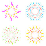 Fuegos artificiales fijados Ilustración del vector Imagenes de archivo