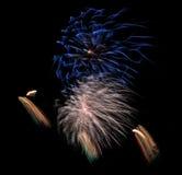 Fuegos artificiales fondo, modelo de los fuegos artificiales, modelo colorido Foto de archivo libre de regalías
