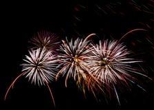 Fuegos artificiales fondo, modelo de los fuegos artificiales, modelo colorido Foto de archivo
