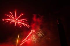 Fuegos artificiales en ciudad de los arles Fotos de archivo libres de regalías