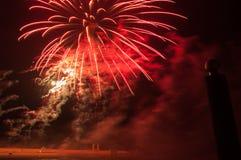 Fuegos artificiales en ciudad de los arles Imágenes de archivo libres de regalías