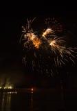 Fuegos artificiales en ciudad de los arles Imagen de archivo libre de regalías