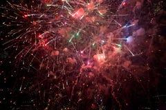 Fuegos artificiales hermosos Imagen de archivo