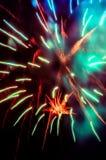 Fuegos artificiales hermosos del día de fiesta foto de archivo libre de regalías