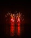 Fuegos artificiales - Ignis Brunensis Foto de archivo