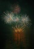 Fuegos artificiales - Ignis Brunensis Foto de archivo libre de regalías