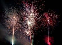 Fuegos artificiales Imagen del color Imagen de archivo libre de regalías
