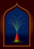 Fuegos artificiales indios tradicionales de Diwali