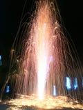 Fuegos artificiales, Lent Day budista de Tailandia imagen de archivo libre de regalías