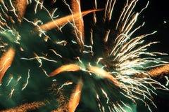 Fuegos artificiales locos Fotos de archivo