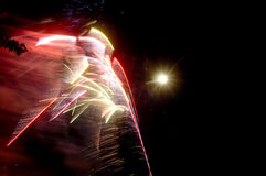 Fuegos artificiales múltiples Imagen de archivo libre de regalías