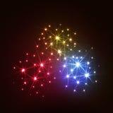 Fuegos artificiales maravillosos del vector Imagen de archivo