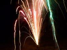 Fuegos artificiales multicolores Imagen de archivo libre de regalías