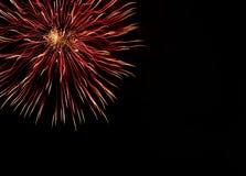 Fuegos artificiales muy hermosos con el espacio libre Fotos de archivo
