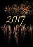 Fuegos artificiales para 2017 Imagen de archivo libre de regalías