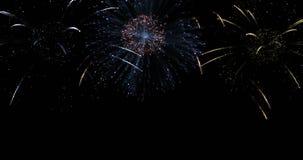Fuegos artificiales para la celebración del Año Nuevo metrajes