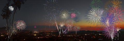 Fuegos artificiales para la independencia Foto de archivo libre de regalías